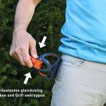 Pocket-Scoopy - Auslösetasten Griff umklappen - Schaufel - Hundekot Kotbeutel entsorgen