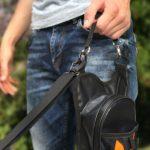 Walkybag - Griffschlaufe mit Leine - Gassitasche für Hundehalter - Kotbeutel entsorgen