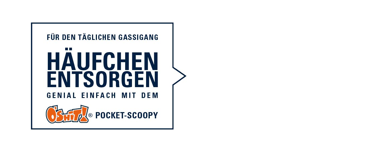 Pocket-Scoopy Häufchen entsorgen - Schaufel Hundekot entsorgen