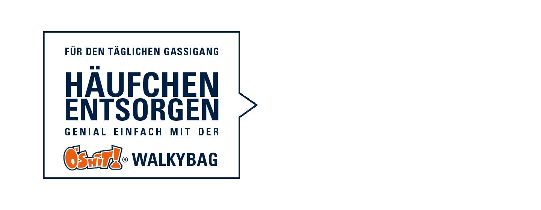 Walkybag Häufchen entsorgen - Gassitasche für Hundehalter - Kotbeutel entsorgen