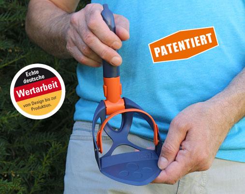 ocket-Scoopy patentiert - Echte deutsche Wertarbeit - Schaufel - Hundekot Kotbeutel entsorgen