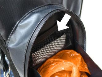 O'SHiT! Walkybag - Netzfach für Anti-Geruch-Filter im Hauptfach der Walkybag- Die innovative Gassitasche für Hundehalter - gefüllte Kotbeutel sauber, hygienisch und geruchlos transportieren.