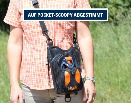 Walkybag patentiert - Gassitasche für Hundehalter - Kotbeutel entsorgen – Hauptfach mit Geruchfilter – Auf Pocket-Scoopy abgestimmt – Frau und Mann geeignet